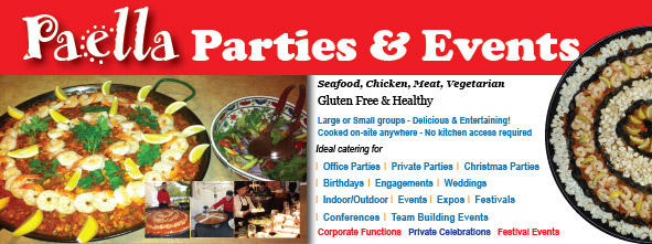 Paella party and event hire Chiltern, Rutherglen, Lake Hume, Northern Victoria and other areas.